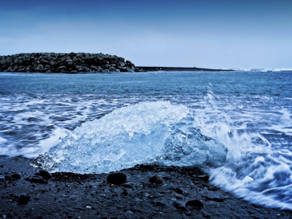 Iceland Diamond Beach Waves