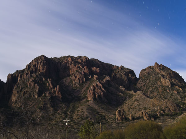 Chisos Mountains Moonset