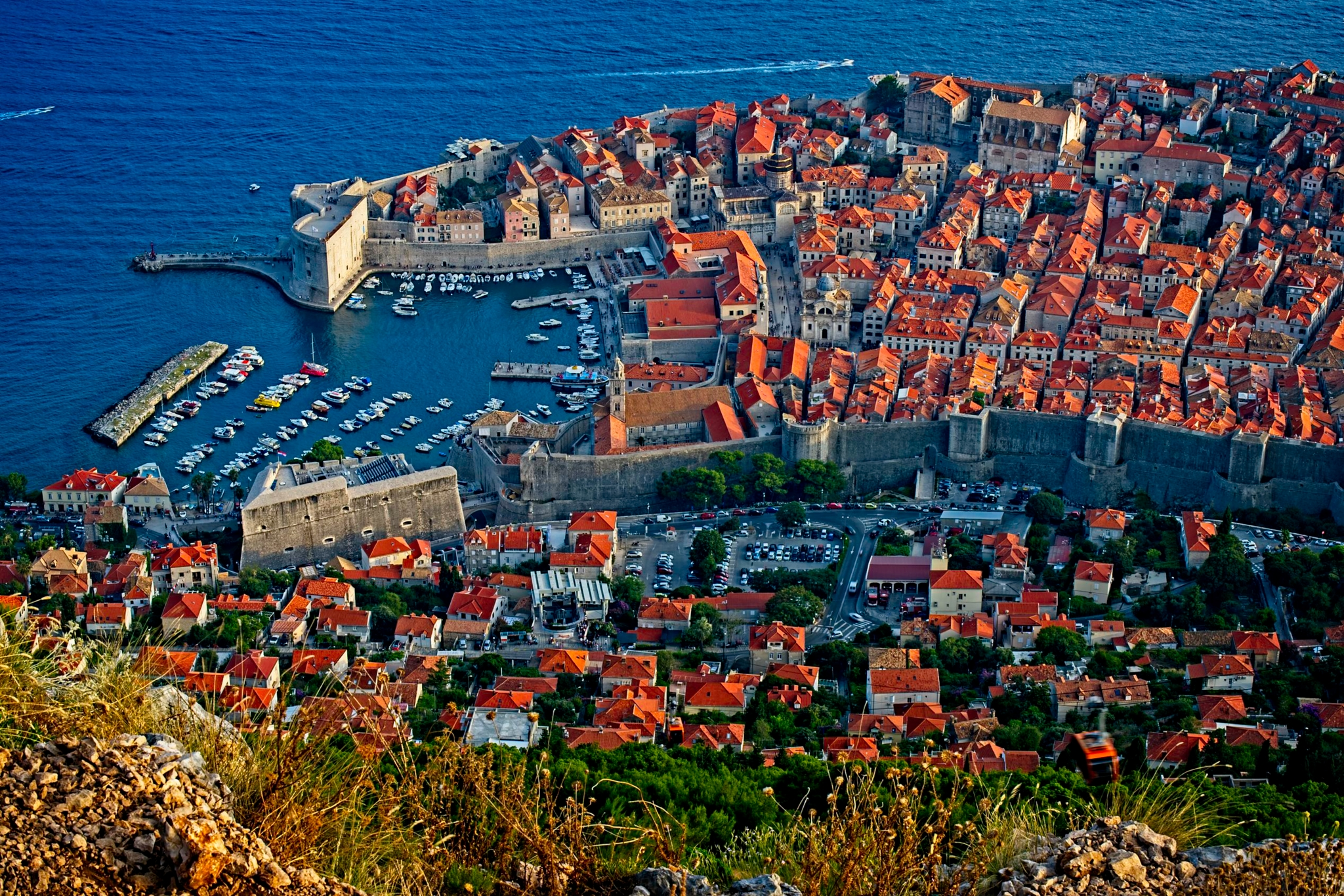 Dubrovnik Aerial view from Panoramic Restaurant