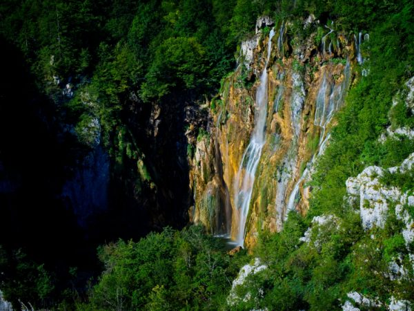 Plitvice Lake Croatia Big Waterfall Landscape Photography for Sale