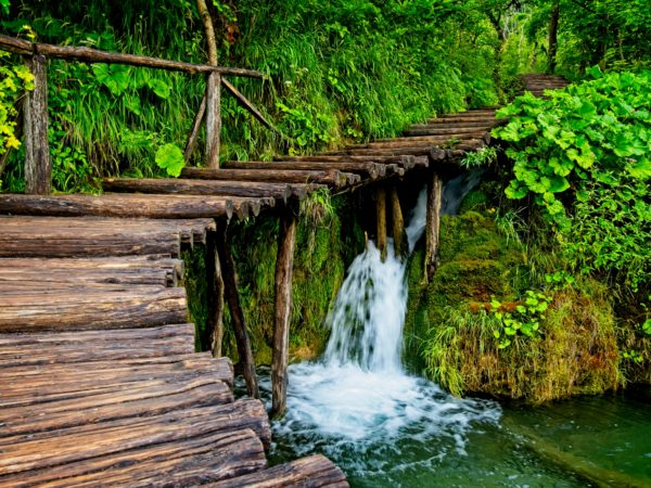 Plitvice Lake Croatia Waterfall Stairs Landscape Photography